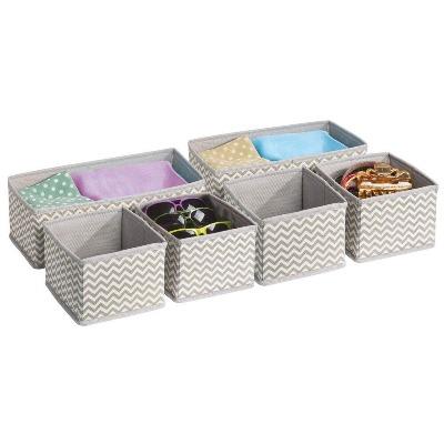 Organizador de seis cajas para ropa de bebés