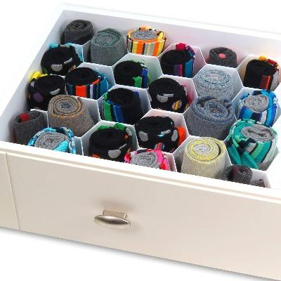 Organizador de calcetines y corbatas con 32 compartimientos