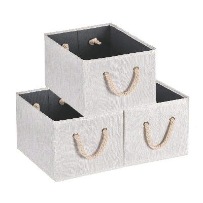 cestas con cuerdas para almacenar