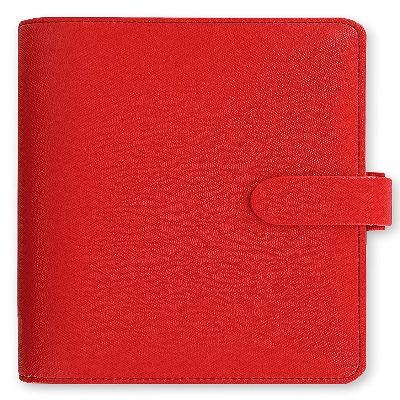 Agenda personal filofax roja