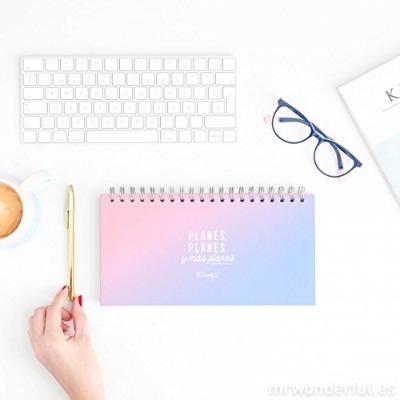 planificador semanal wonderful azul y rosa