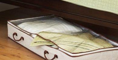 Organizador bajo cama